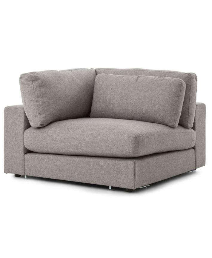 Modern Classic Grey Fabric Sectional Sofa