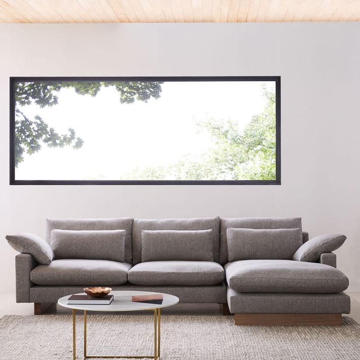 Down Filled 2 Piece Sectional Sofa Cre8 Nyc