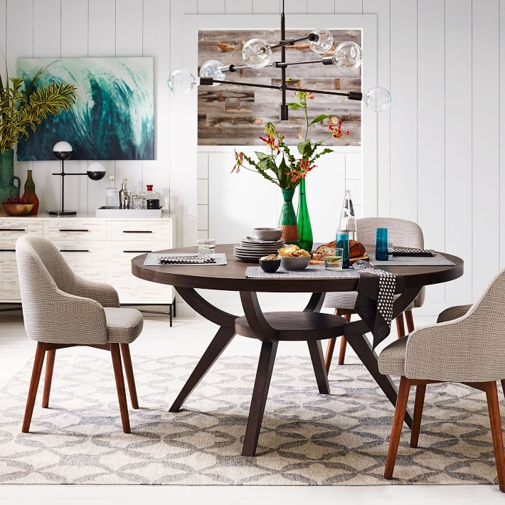 Arch Base Pedestal Dining Table Cre8 Nyc, Pedestal Dining Room Tables