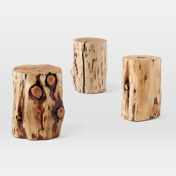 Natural Tree Stump Side Table Cre8 Nyc